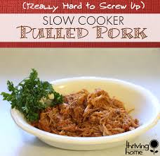 slow cooker pulled pork freezer meal thriving home