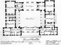 spanish hacienda style courtyard house plans mexican with center 1