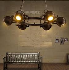 Vintage Wrought Iron Chandeliers 3w Led Spotlights Loft Living Room Lamp Vintage Wrought Iron