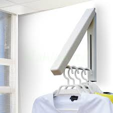 Fold Away Furniture by Coat Fold Away Hanger Wall Mounted Clothes Hanging Rail Dryer Rack