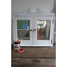 white shabby chic mirrored bathroom vanity wall cupboard cabinet unit