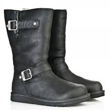 womens kensington ugg boots uk ugg black 5678 kensington womens calf boot from daniel
