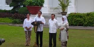 profil jokowi dan jk ini susunan dan profil 34 manteri kabinet kerja jokowi jk santrinews