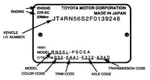 toyota camry vin decoder 1999 toyota camry vin number 28 images 1999 toyota camry