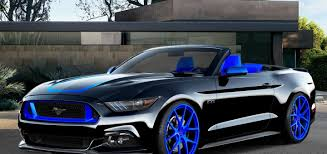 blue mustang mad industries ford mustang sema concept ford authority