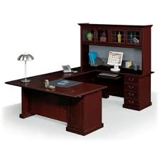 Executive Desk With Hutch U Shaped Desk Shop Wrap Around Desk With Desk Hutch Nbf