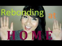 hair rebonding at home how to rebond hair at home youtube