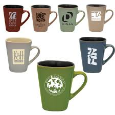 Coffee Mugs Wholesale Custom Printed Square Like Ceramic Mugs 14 Oz Coffee Mug
