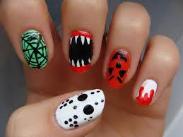 sharp teeth or spider web you choose nail art