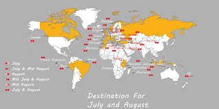 Best international tour place to visit in july and august