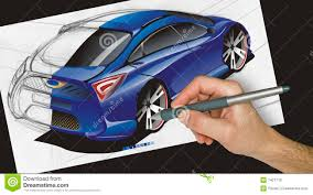 sports cars drawings designer drawing a car royalty free stock images image 7421719