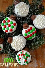 Baking Christmas Tree Decorations by Oreo Ornaments Recipe Oreo Christmas Baking And Sandwich Cookies