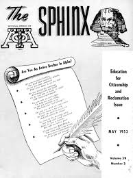 the sphinx spring may 1953 volume 39 number 2 195303902 by