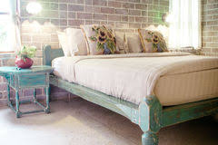 vintage style bedrooms bedroom in vintage style stock photo image of coverlet 4888802
