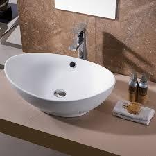 bathroom oval bowl modern bathroom sinks with brown paint wall