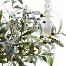 10pcs artificial european olive tree branches with olive fruit