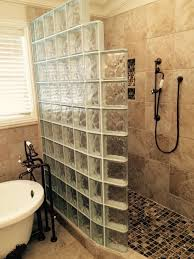 amazing glass block shower designs with personality design out the box remodeling tips for master bathroom