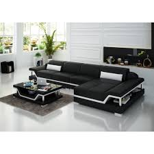 canape d angle noir canapé d angle en cuir pop design fr