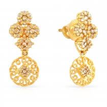 gold jhumka earrings design with price buy gold earring for women online malabar gold diamonds