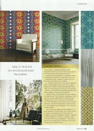 Home Decor Magazines South Africa by Quagga Fabrics And Wallpapers Appearances In Media Such As