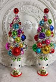 Vintage Christmas Decorations Best 25 Vintage Christmas Trees Ideas On Pinterest Christmas