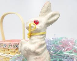 paper mache easter bunny paper mache easter etsy
