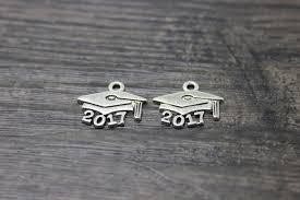 graduation cap charm 30pcs lot 18 15mm 2017 graduation cap charm pendants for jewelry