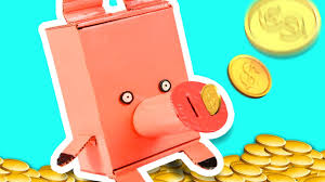 diy piggy bank craft ideas for kids on box yourself youtube