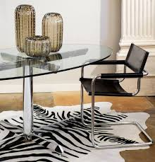 marcel breuer dining table french modernist oval glass and chrome knoll style dining table at