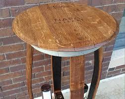 Barrel Bar Table Handmade Wine Barrel Furniture Etsy