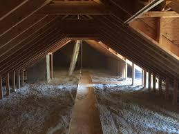 attic insulation with cat walk