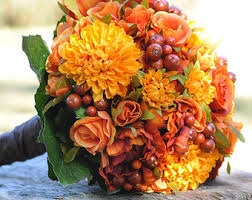 wedding flowers ni fall wedding bouquet made of silk flowers sunflowers blue