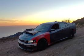 dodge charger hellcat 150 miles in the roadkill