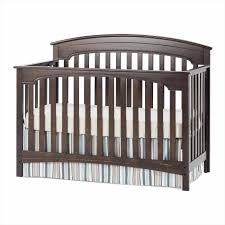 Lajobi Convertible Crib Baby Bed S Cribs On Me In Espresso Baby Crib Y