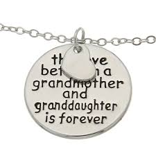 and granddaughter necklace necklace heart family jewelry necklace pendants circle