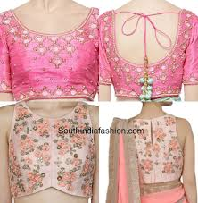 embroidered blouses embroidered blouse designs for sarees south india fashion