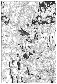 dbz gt coloring pages