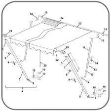 Rv Awning Parts Diagram Caravansplus R00413 301 55 Upper Brace U0026 Top Bracket White