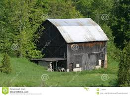 Barn Roof by Barn With Silver Tin Roof Stock Photo Image 12702410