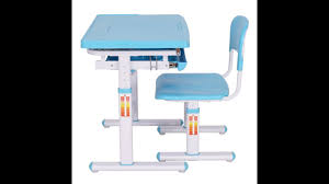 Adjustable Height Desk Chair by Costway Height Adjustable Childrens Desk Chair Set Youtube
