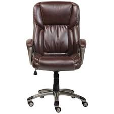 brown leather executive desk chair serta biscuit brown bonded leather executive office chair free