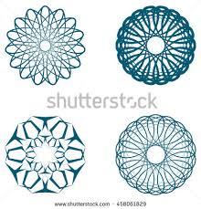 pattern set circular ornament design stock vector 458061829