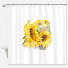 Sunflower Yellow Curtains Sunflowers Shower Curtains Cafepress