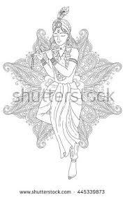 line art krishna stock images royalty free images u0026 vectors