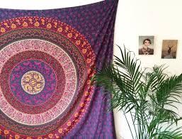 Bedroom Tapestry Indian Wall Bedroom by Purple Plum U0026 Bow Medallion Mandala Hippie Tapestry Bohemian Wall