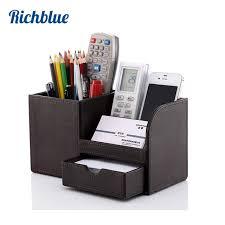 papeterie bureau plein pu en cuir stylo crayon boîte titulaire cas bureau papeterie