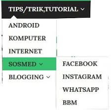 cara membuat menu dropdown keren cara mudah menambah menu multi dropdown di blogger kupas habis