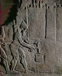 siege bce assur relief 10th 6th bce assyrian soldiers cut the to a pail