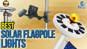 Flag Pole Lights Solar Powered 6 Best Solar Flagpole Lights 2017 Youtube