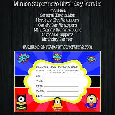 Minions Invitation Card Free Minion Batman Vs Superman Birthday Bundle It U0027s A Mother Thing